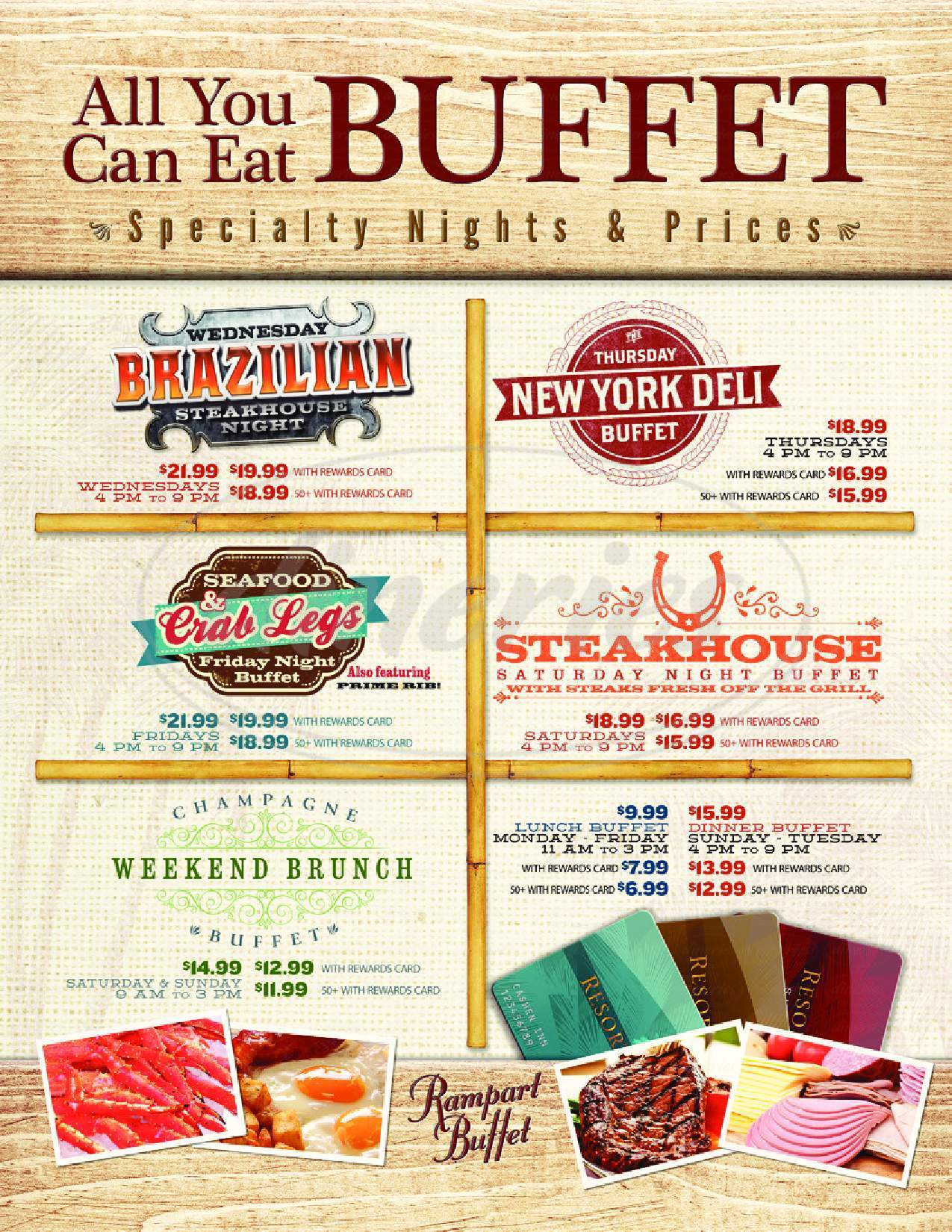 menu for Rampart Buffet