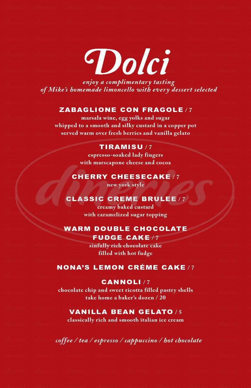 menu for Garlic Mike's