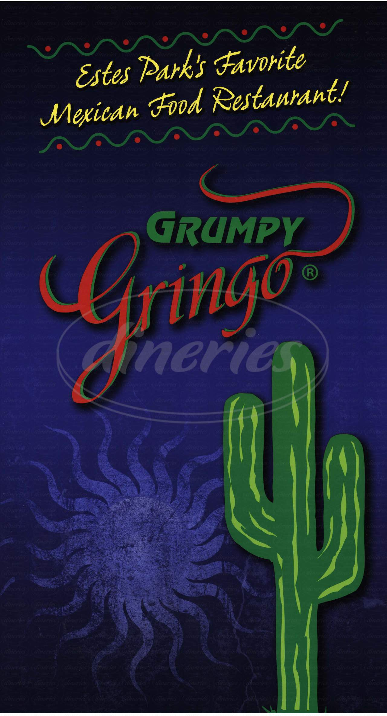 menu for Grumpy Gringo