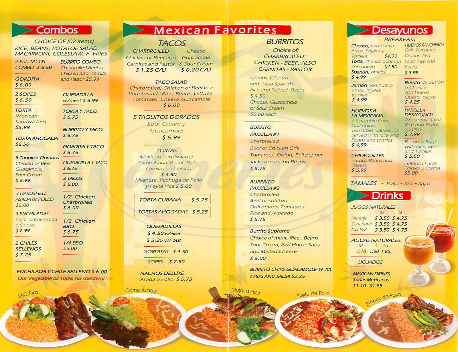 menu for La Parrilla Fresh