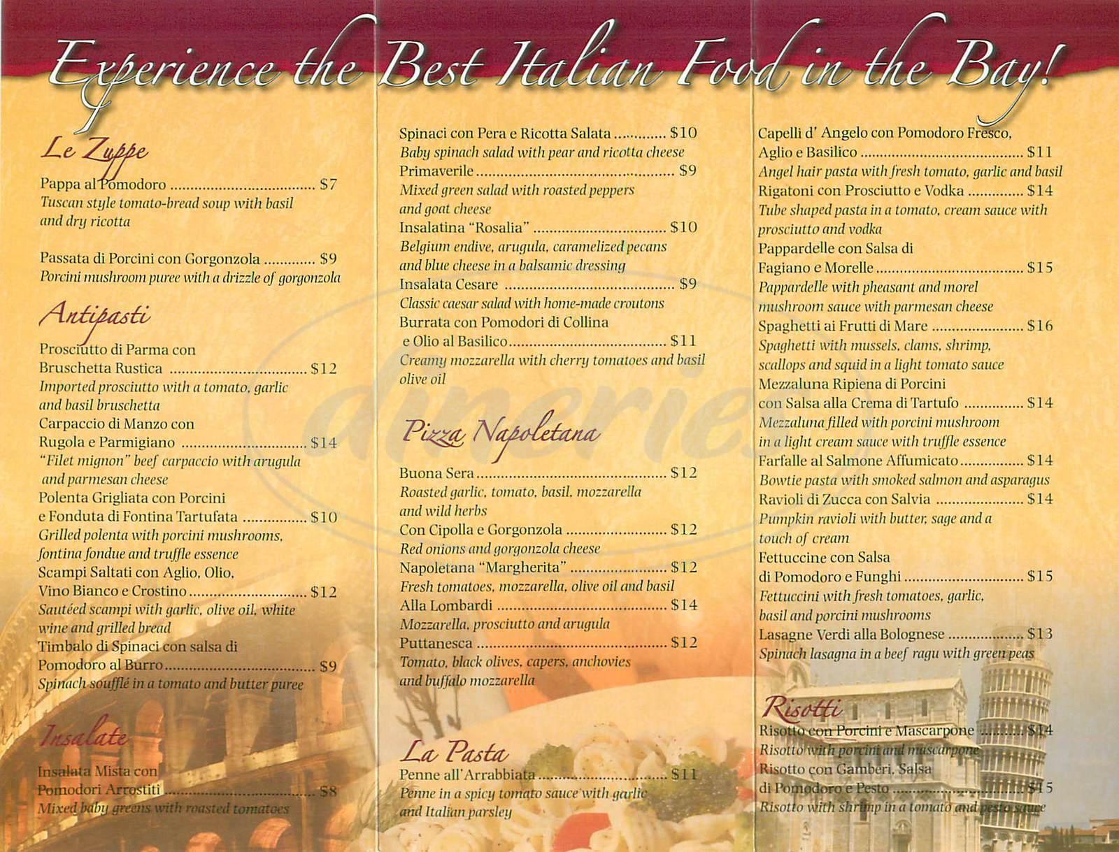 menu for Buona Sera Ristorante