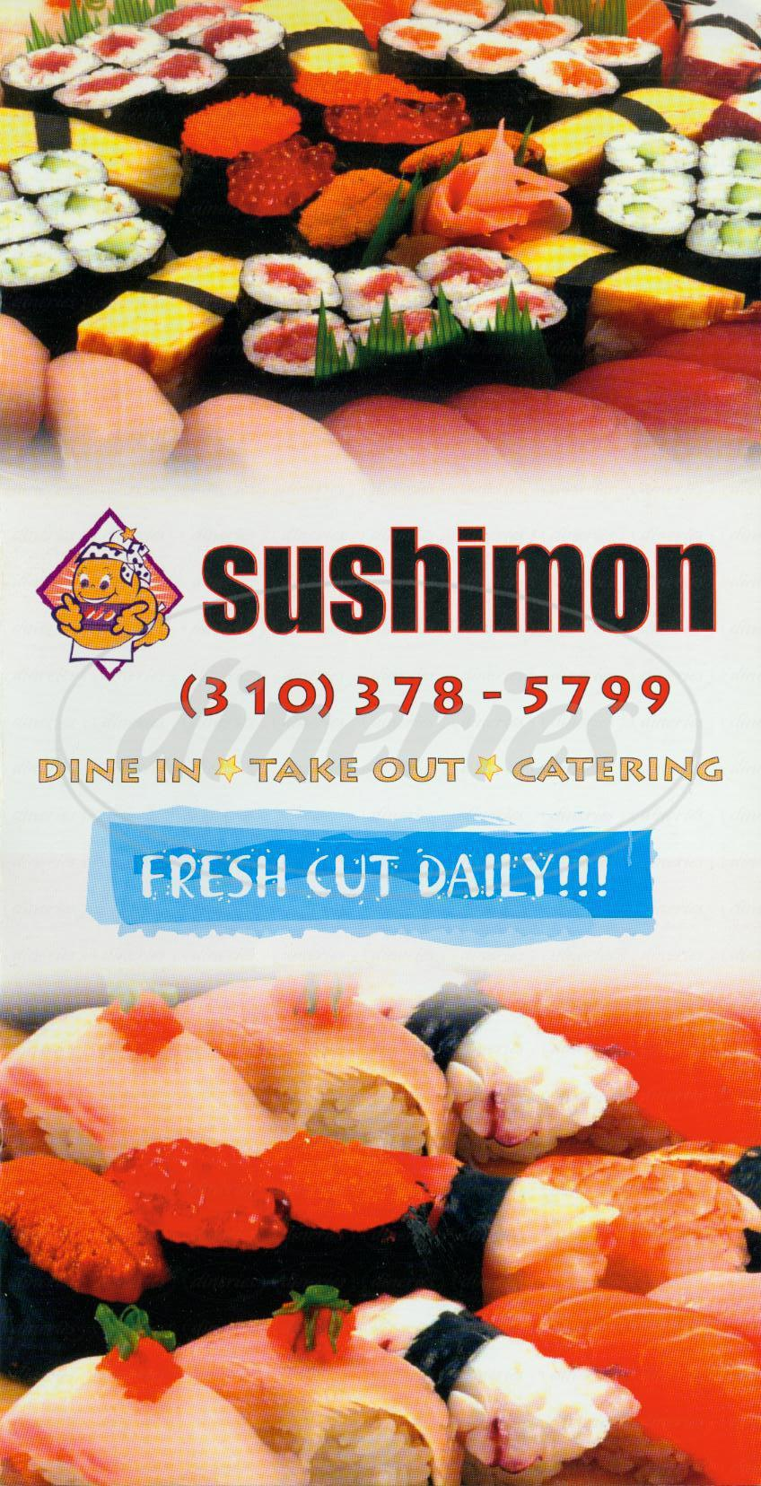 menu for Sushimon