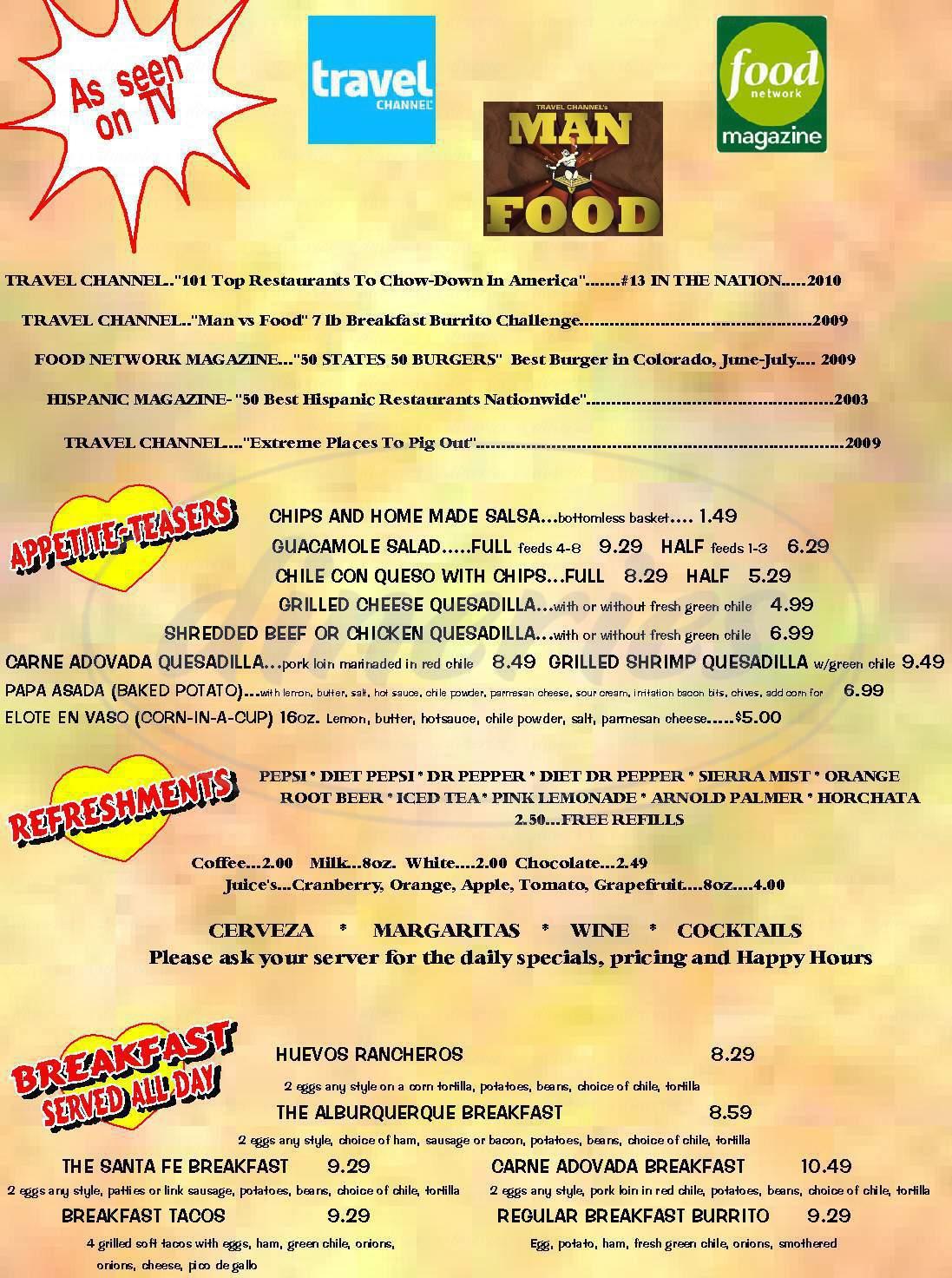 menu for Jack-n-Grill