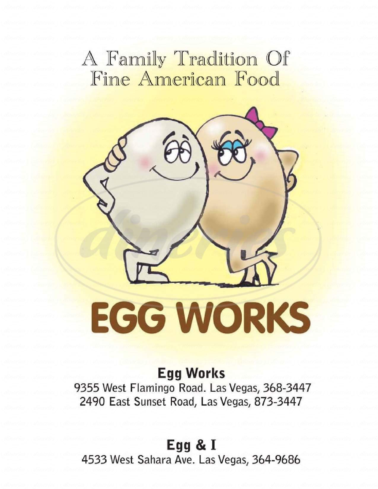 menu for Egg Works