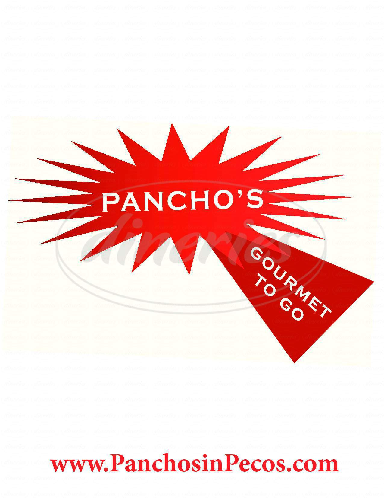 menu for Panchos Gourmet To Go