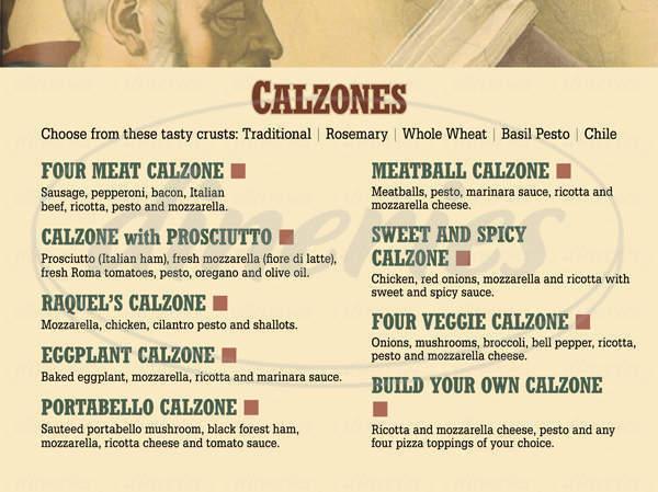 menu for Saggios