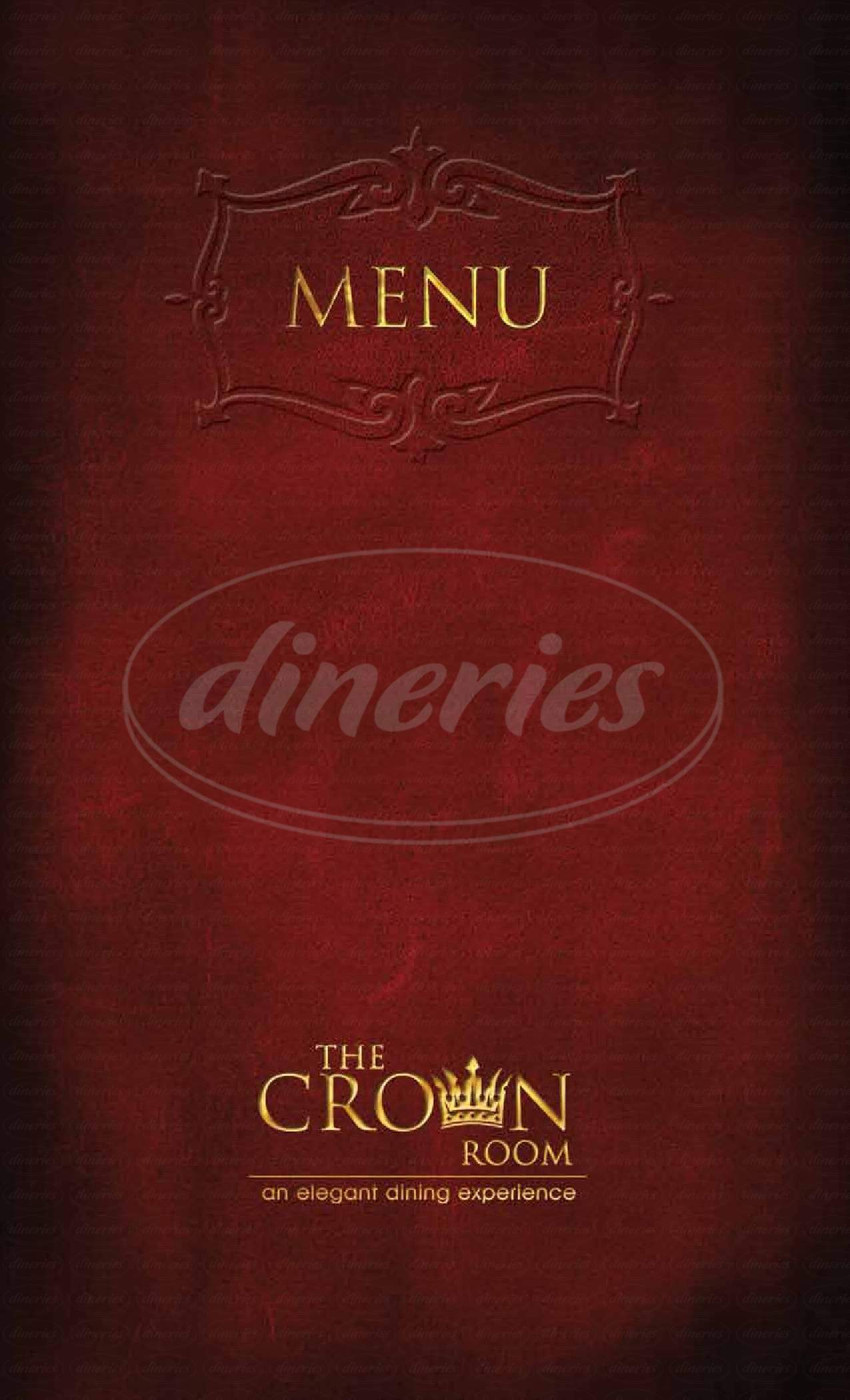 menu for The Crown Room