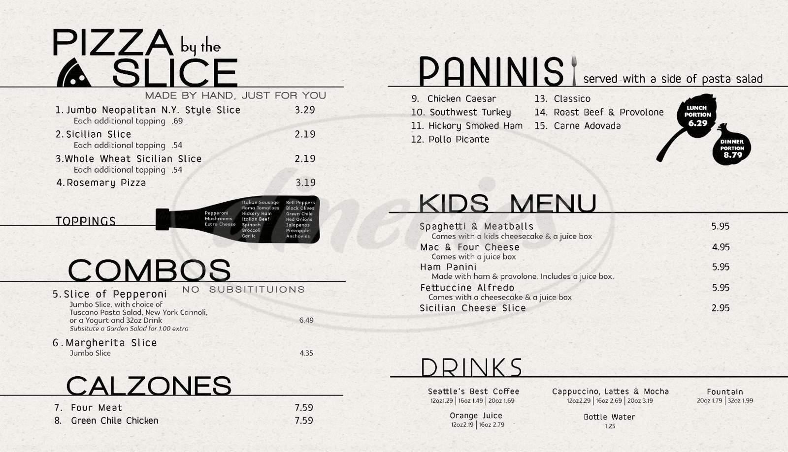 menu for Fastino's