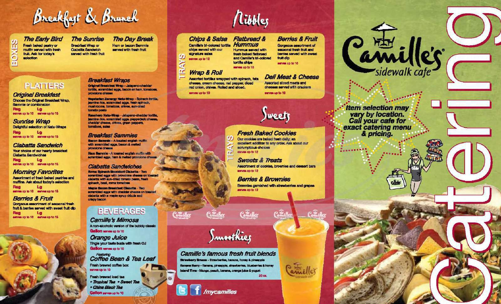 menu for Camille's