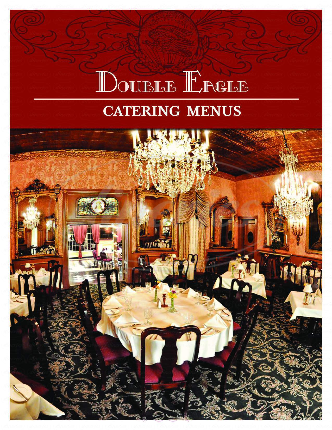 menu for Double Eagle