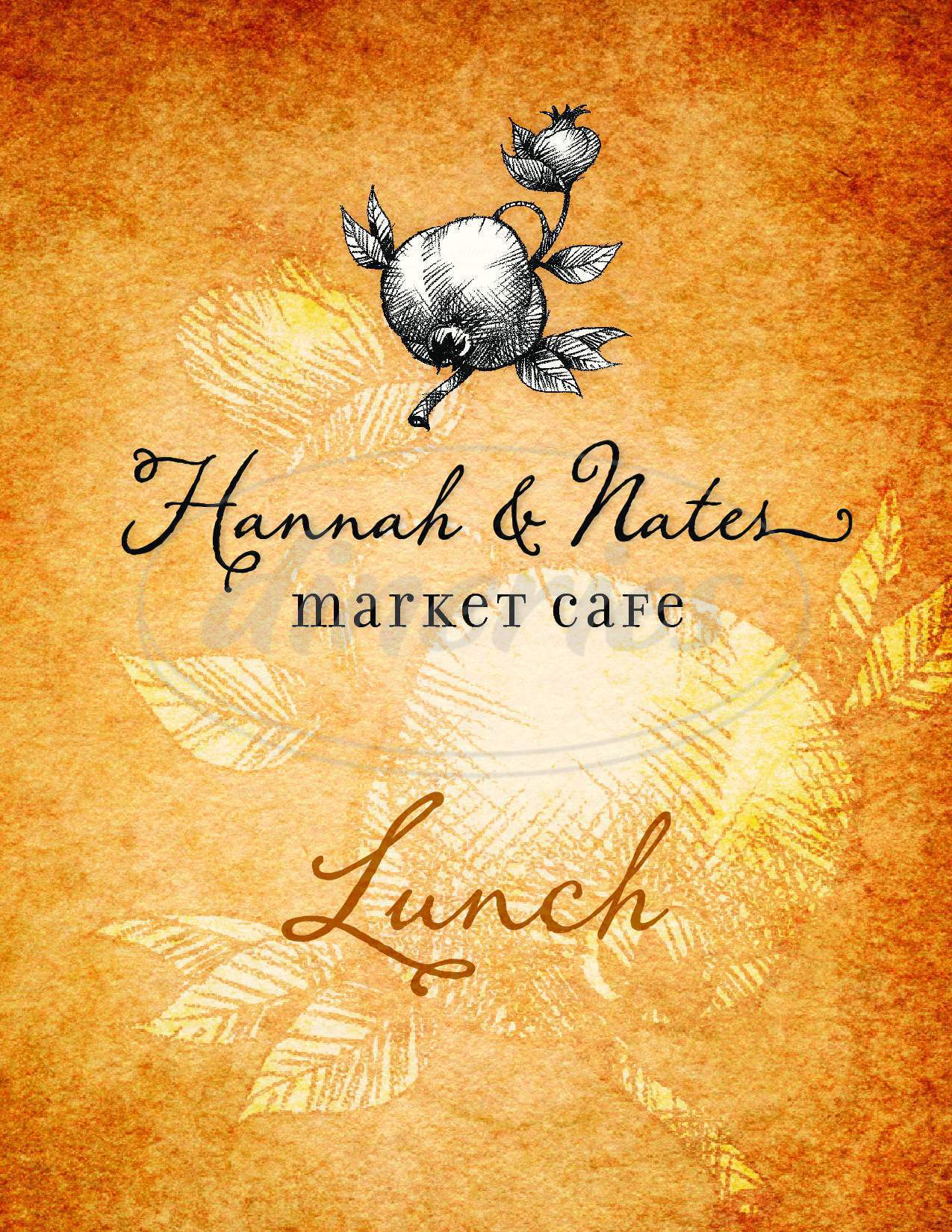menu for Hannah And Nate's