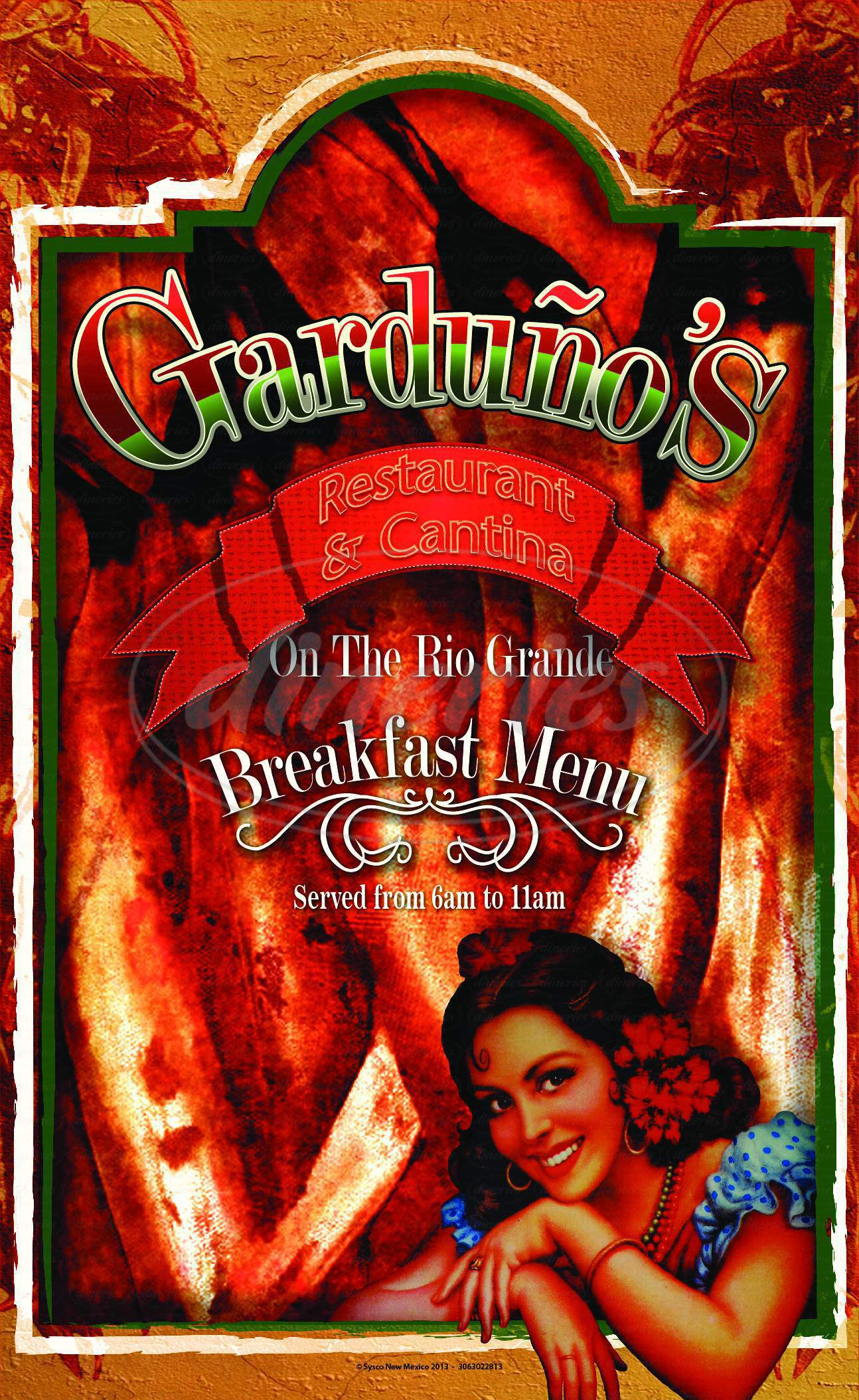 menu for Garduño's at Old Town