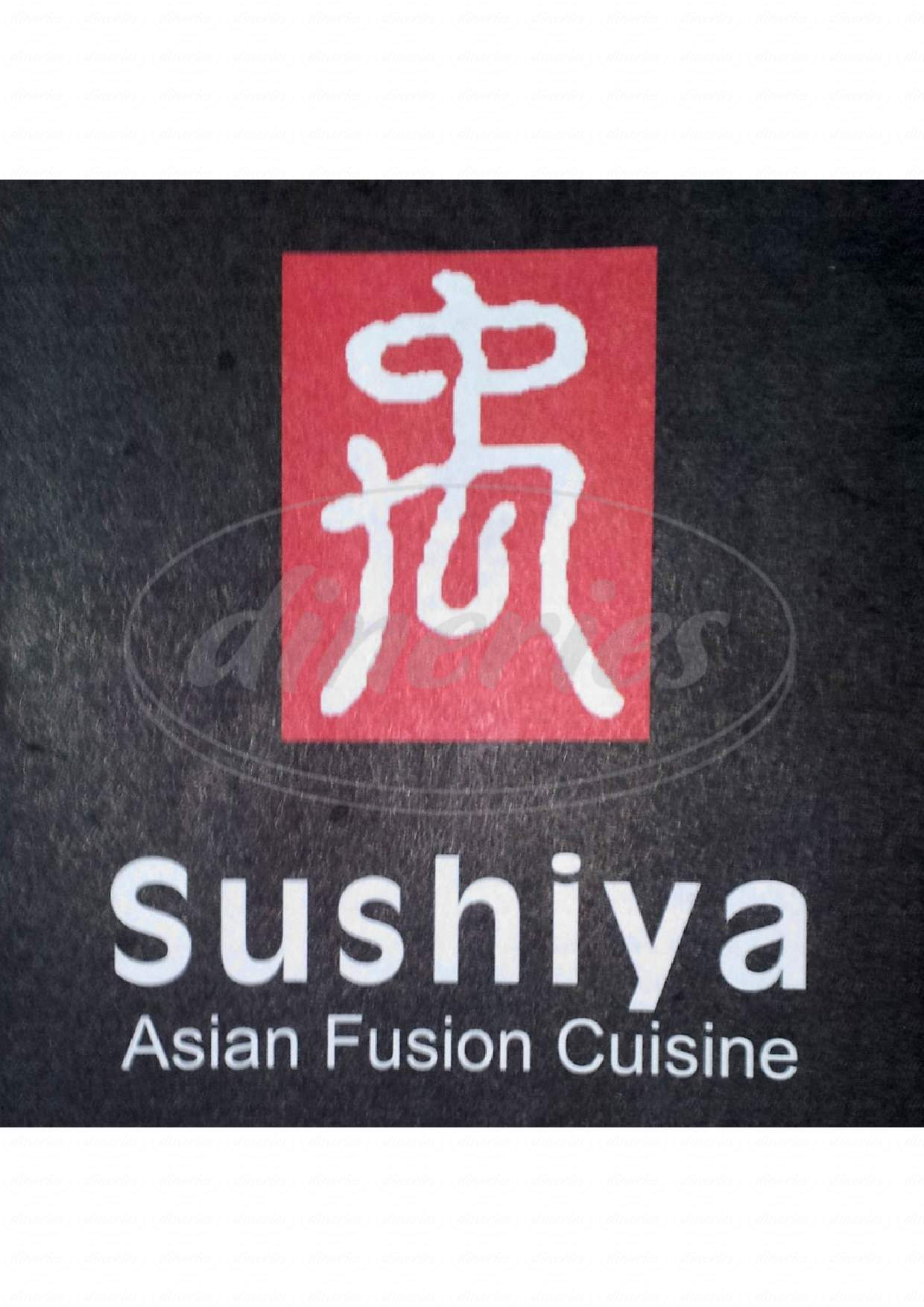 menu for Sushiya