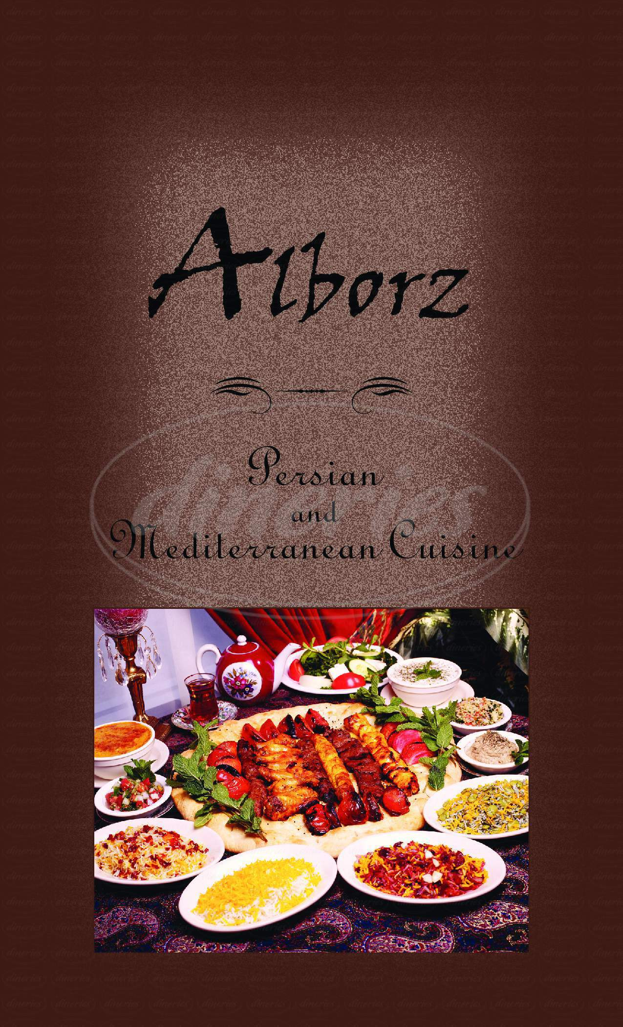 menu for Alborz Persian Cuisine
