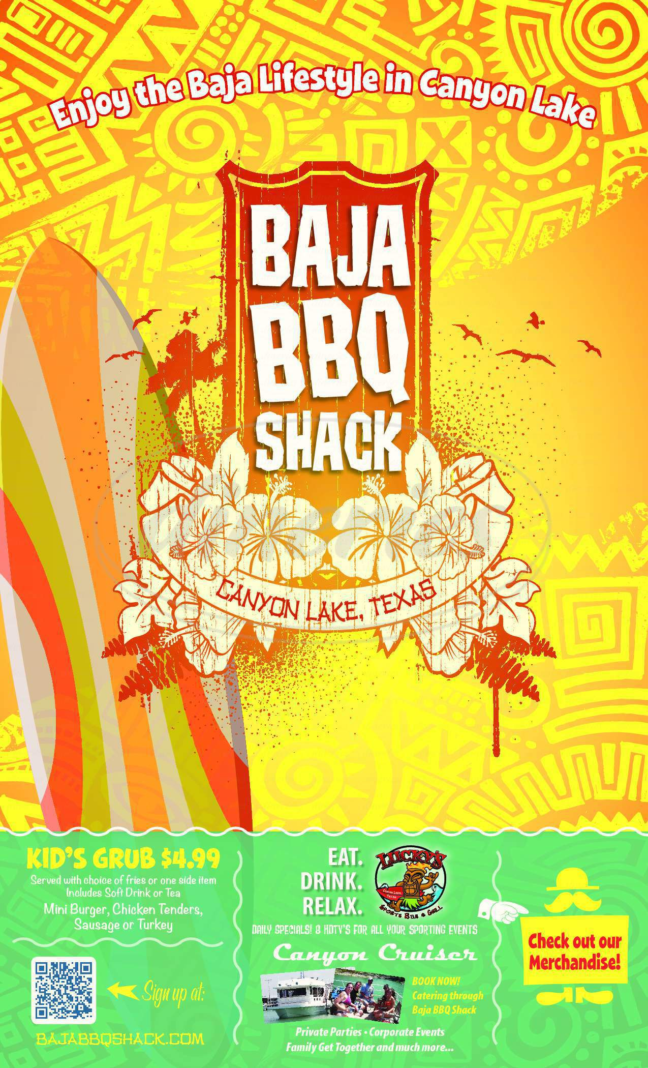 menu for Baja BBQ Shack