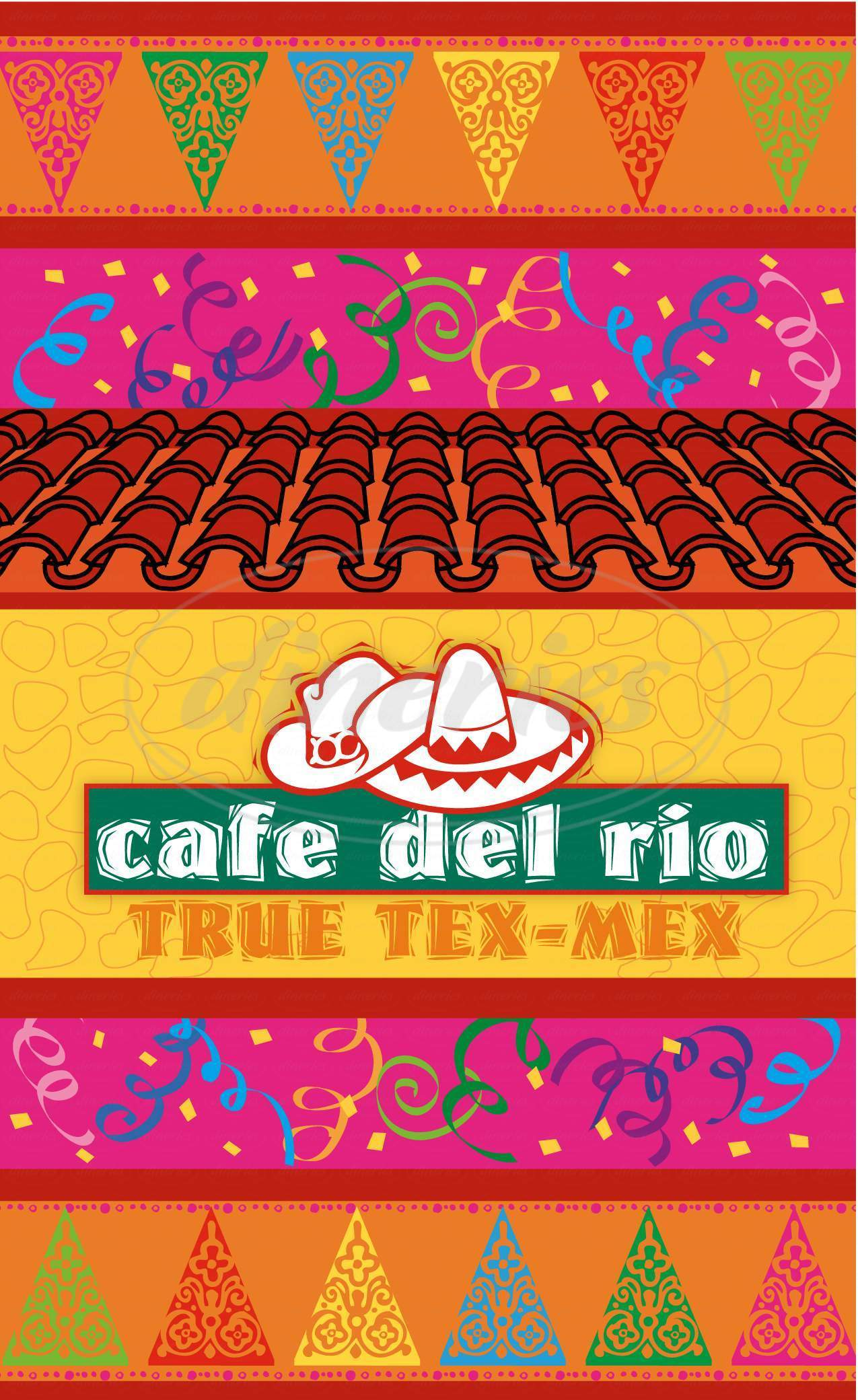menu for Cafe Del Rio