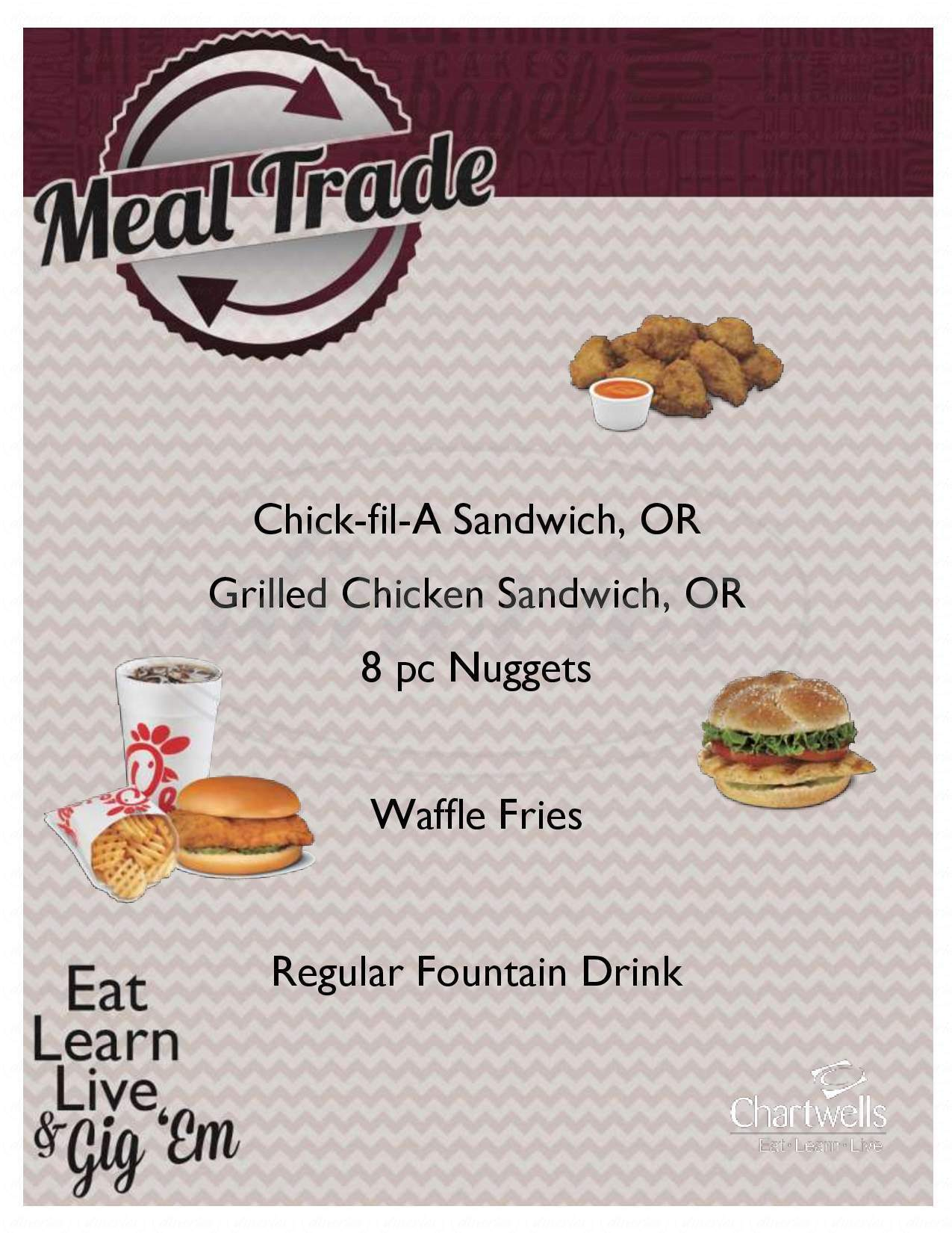menu for Chick-fil-A