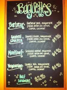 menu for Pearls Tea & Coffee