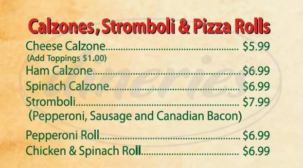 menu for Enzo's NY Pizzeria