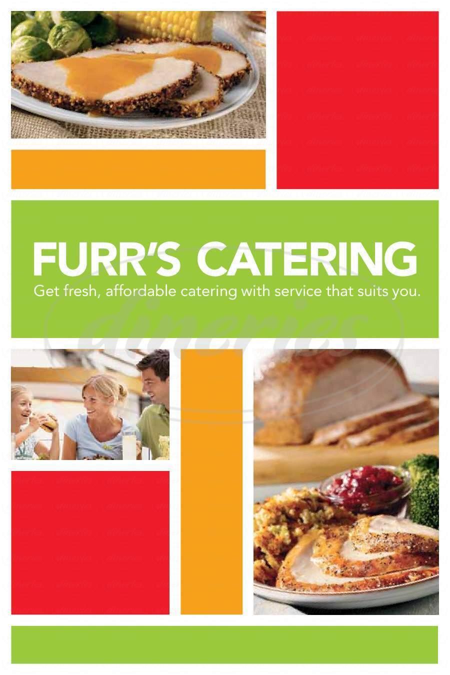 menu for Furr's Cafeteria