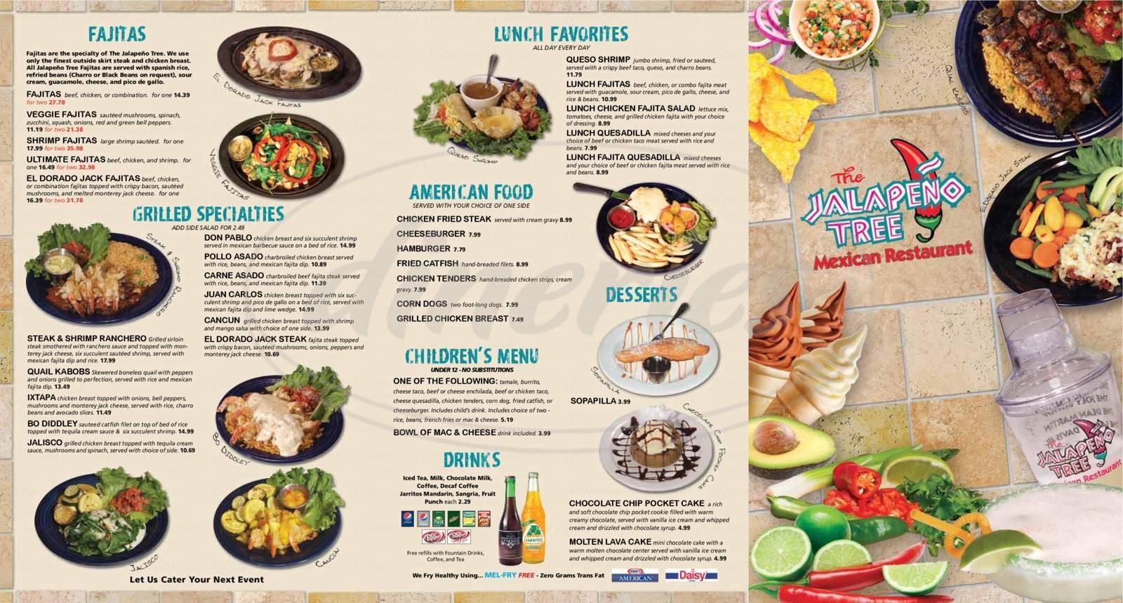 menu for Jalapeno Tree