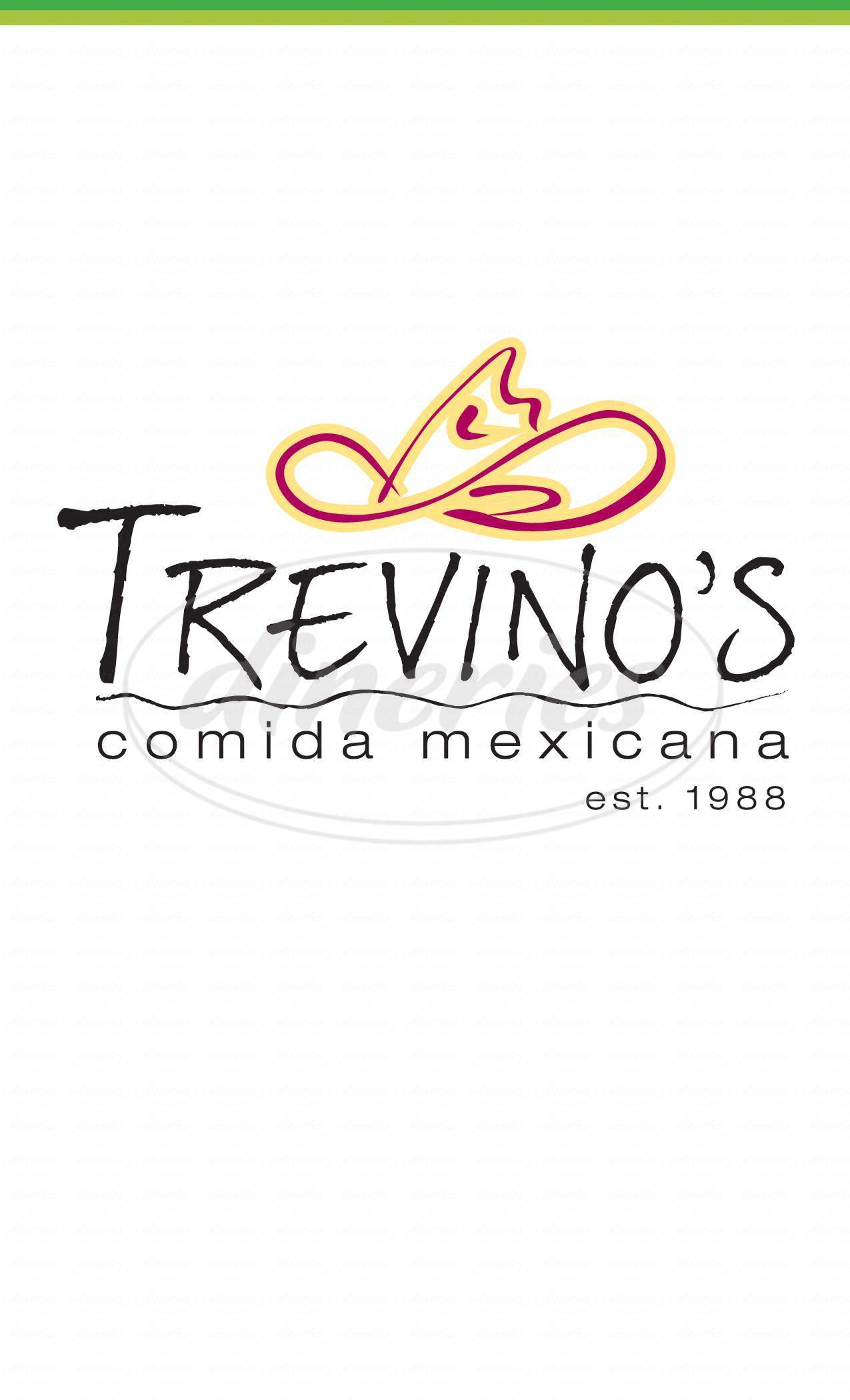 menu for Trevino's