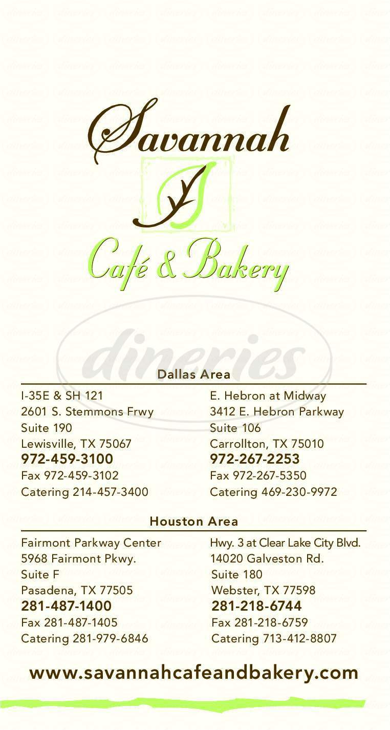 menu for Magnolia Cafe & Bakery