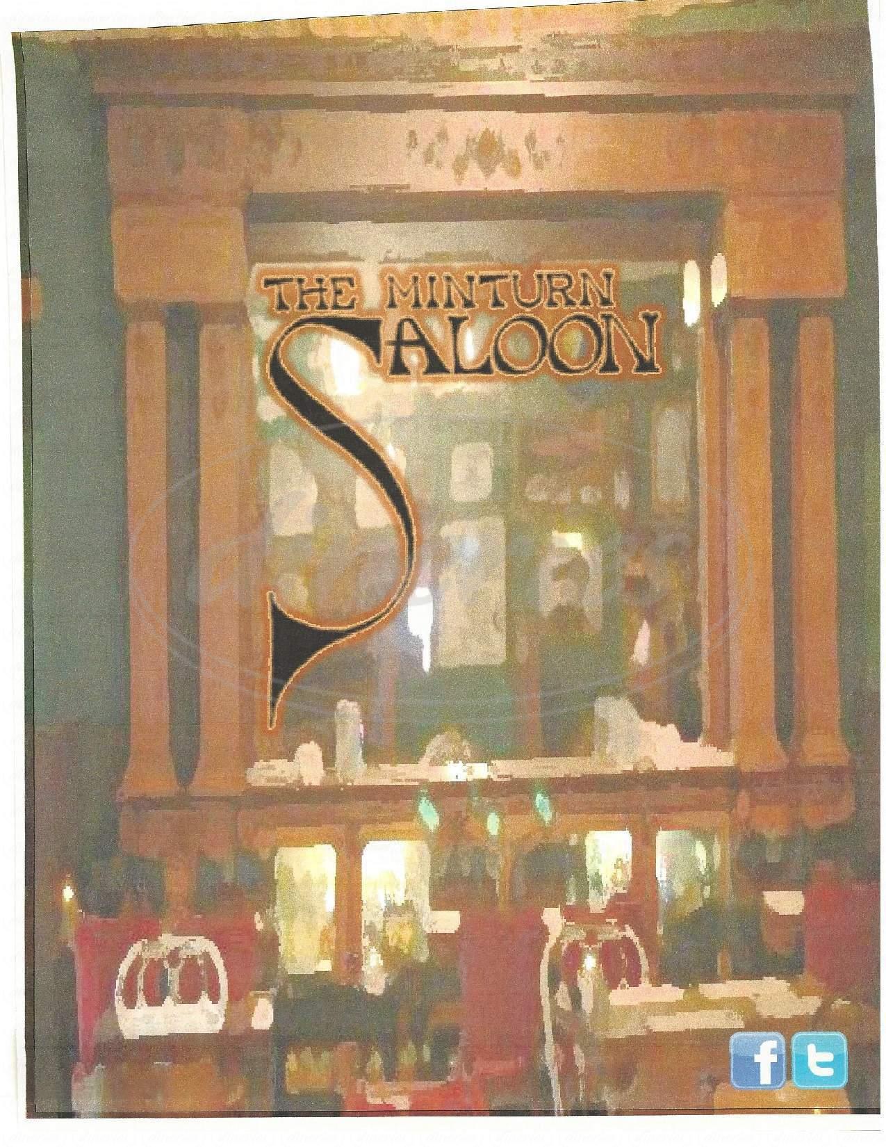 menu for Minturn Saloon