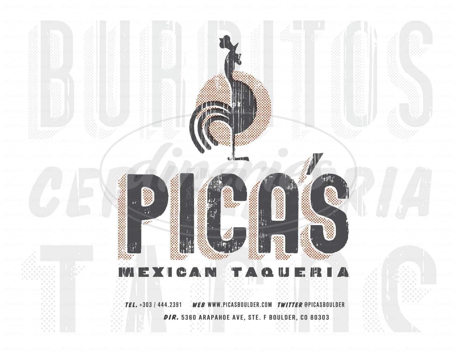 menu for Pica's Taqueria