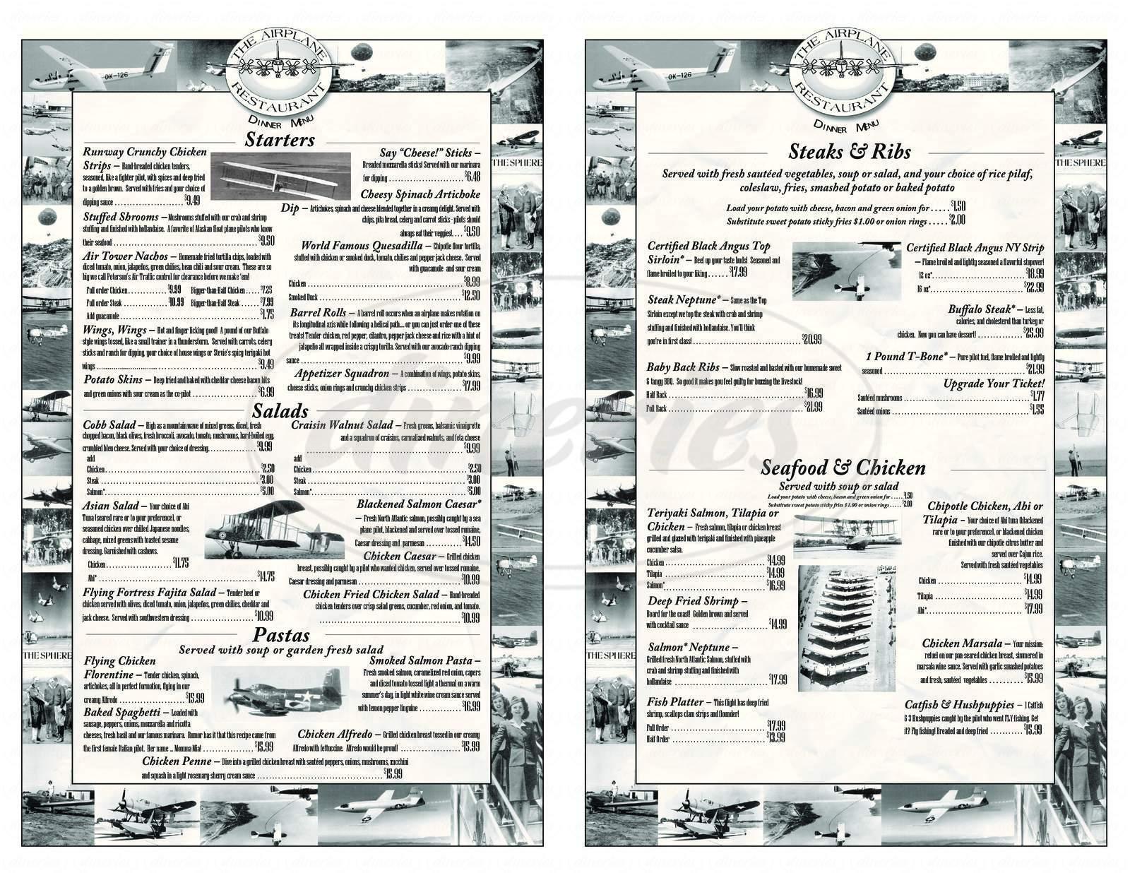 menu for Solo's