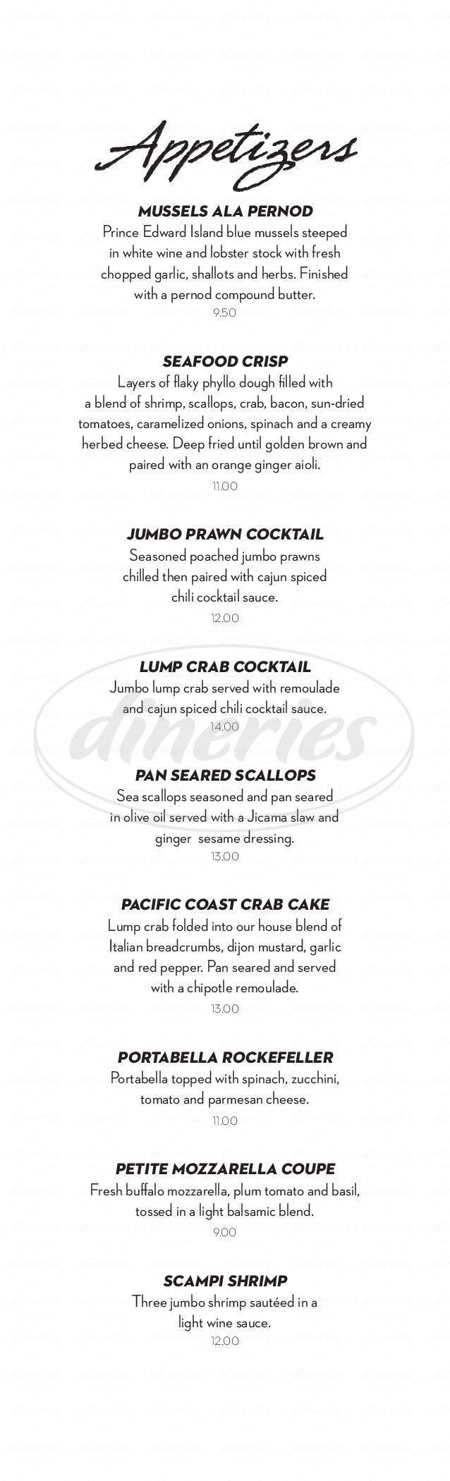 menu for Seven Rivers - Steak Seafood Spirits