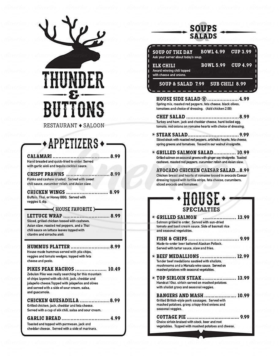 menu for Thunder and Buttons