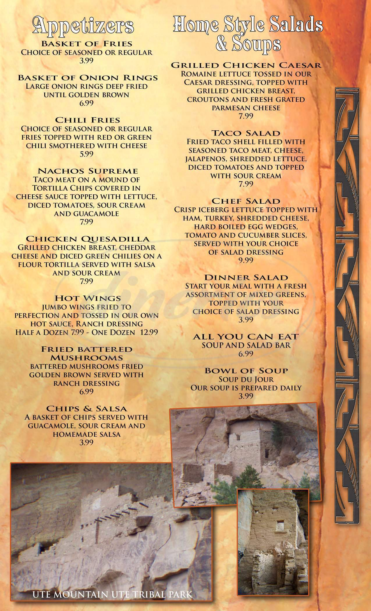 menu for Kuchu's Restaurant
