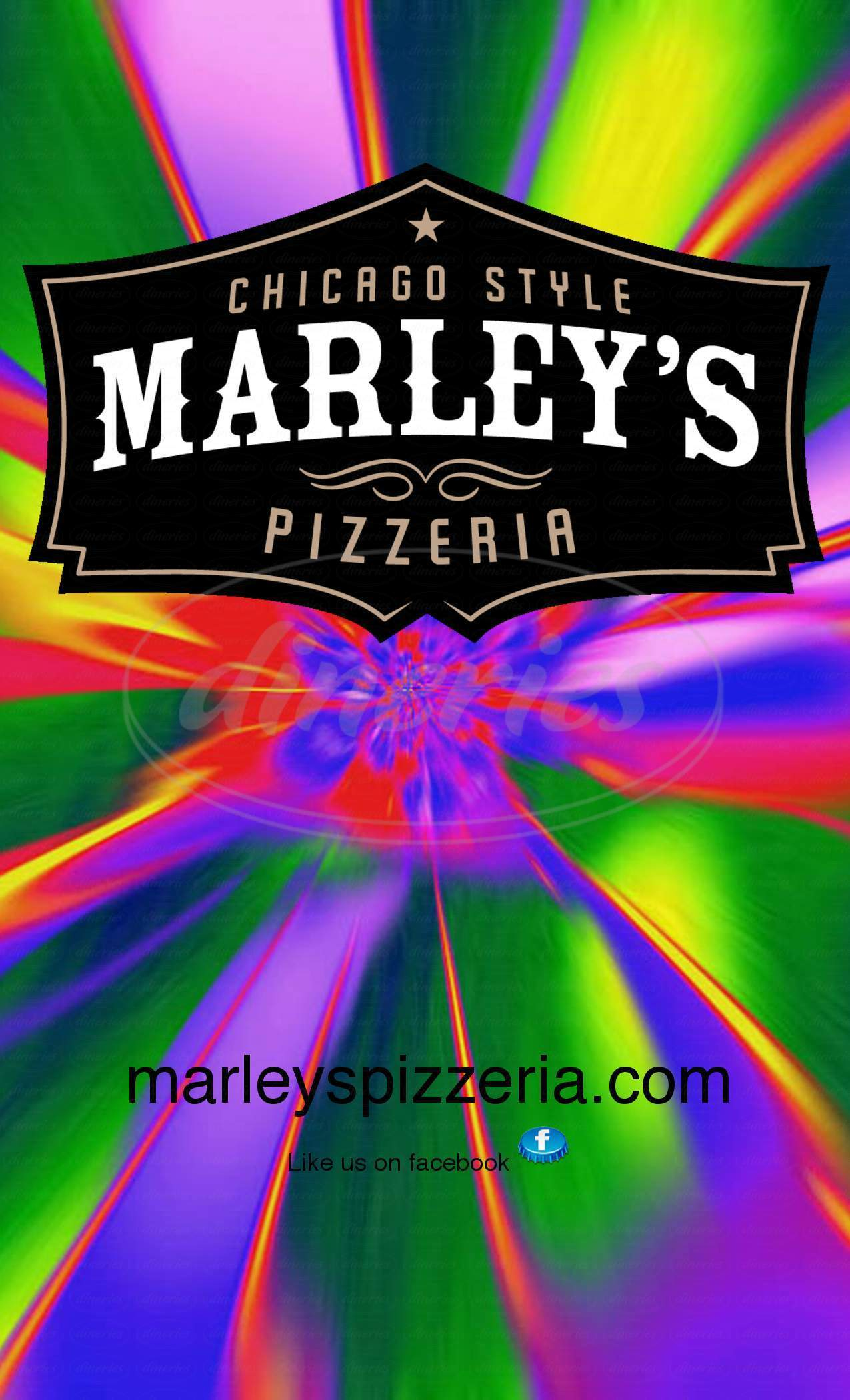 menu for Marley's Pizzeria