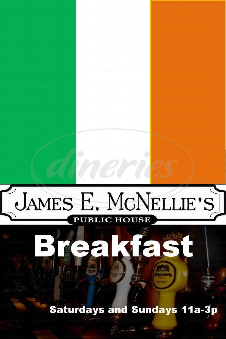 menu for James E McNellie's Public House