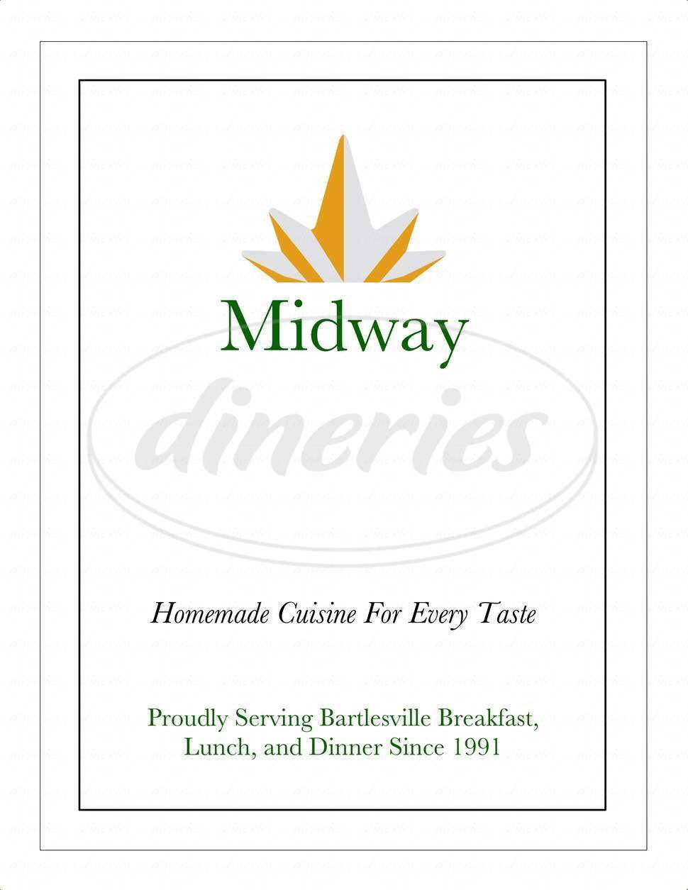 menu for Midway Cafe