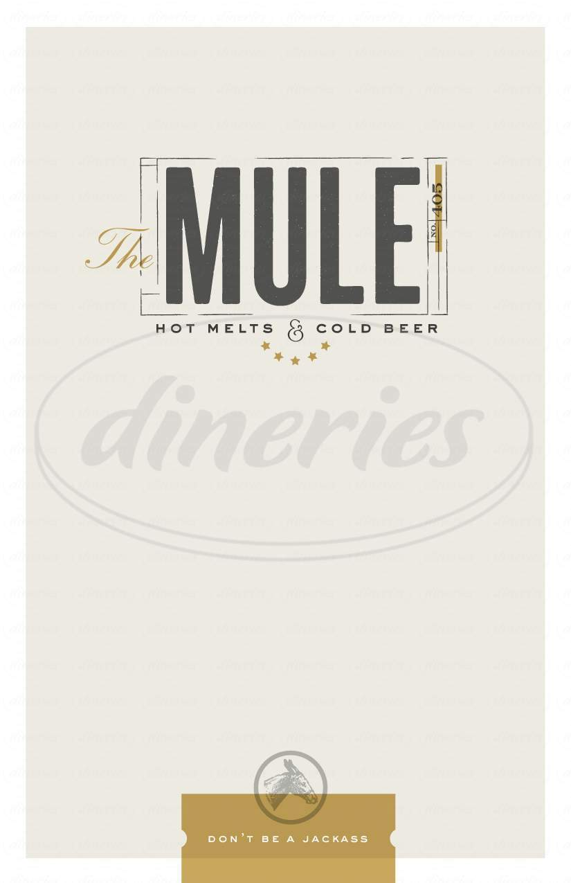 menu for The Mule