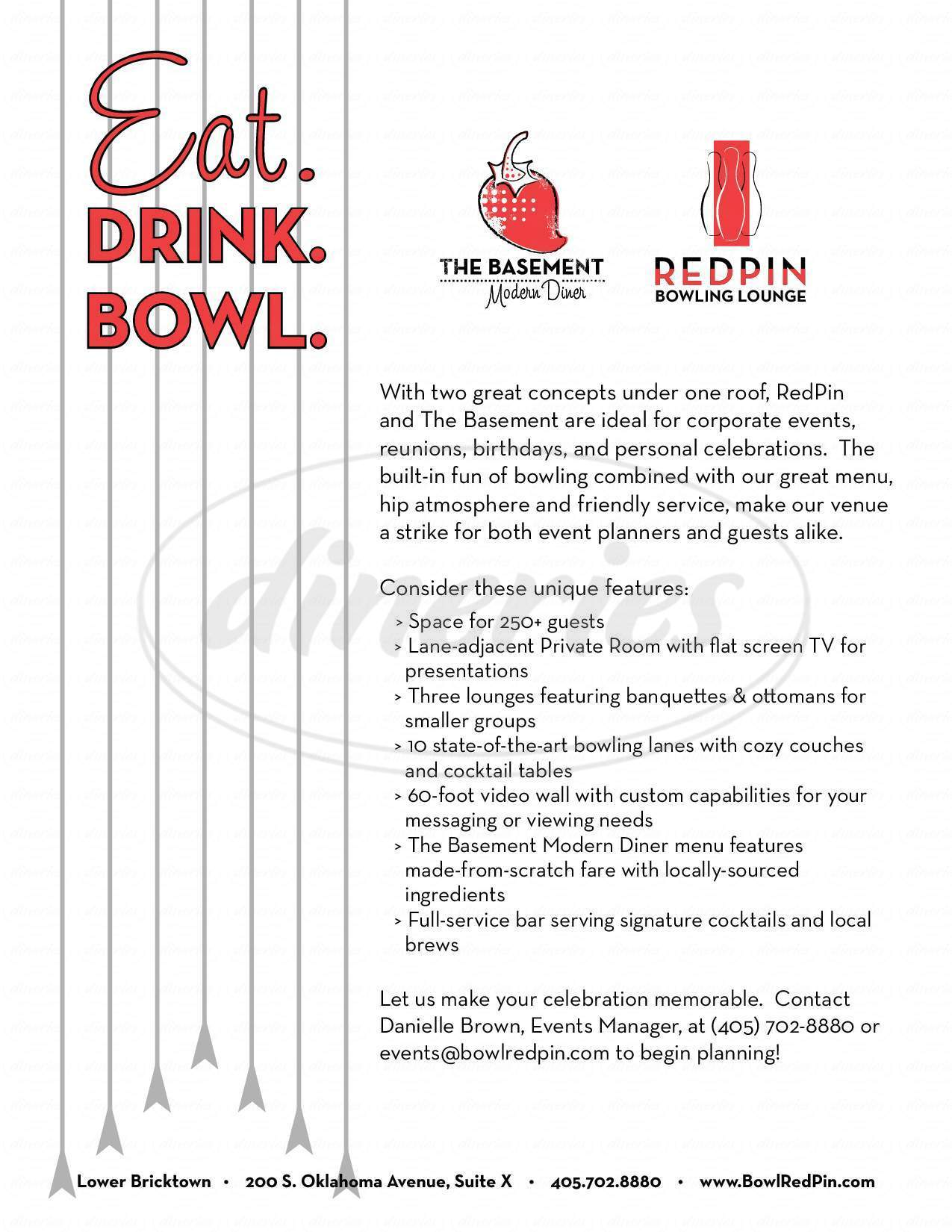 RedPin Restaurant & Bowling Lounge Big Menu Oklahoma City Dineries