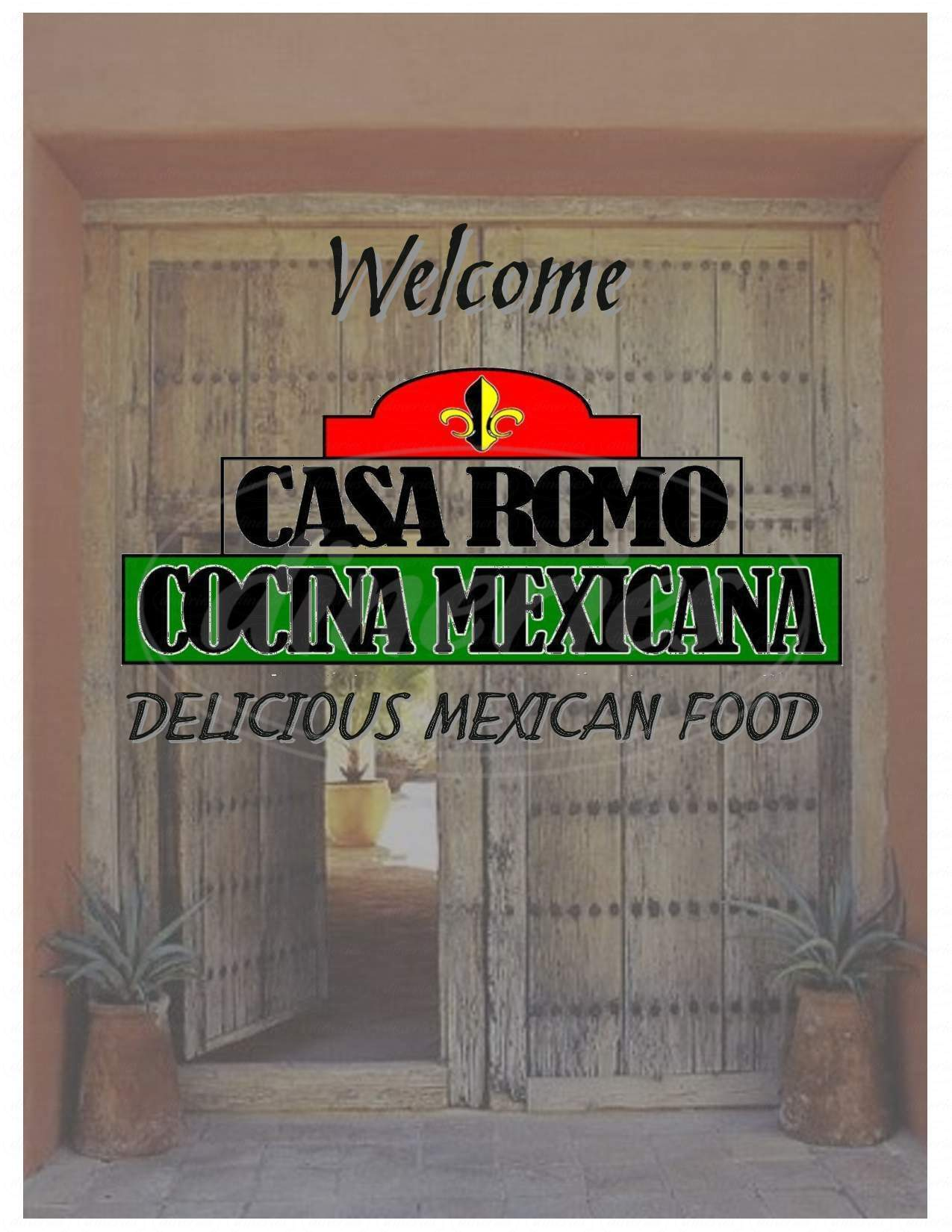 menu for Casa Romo