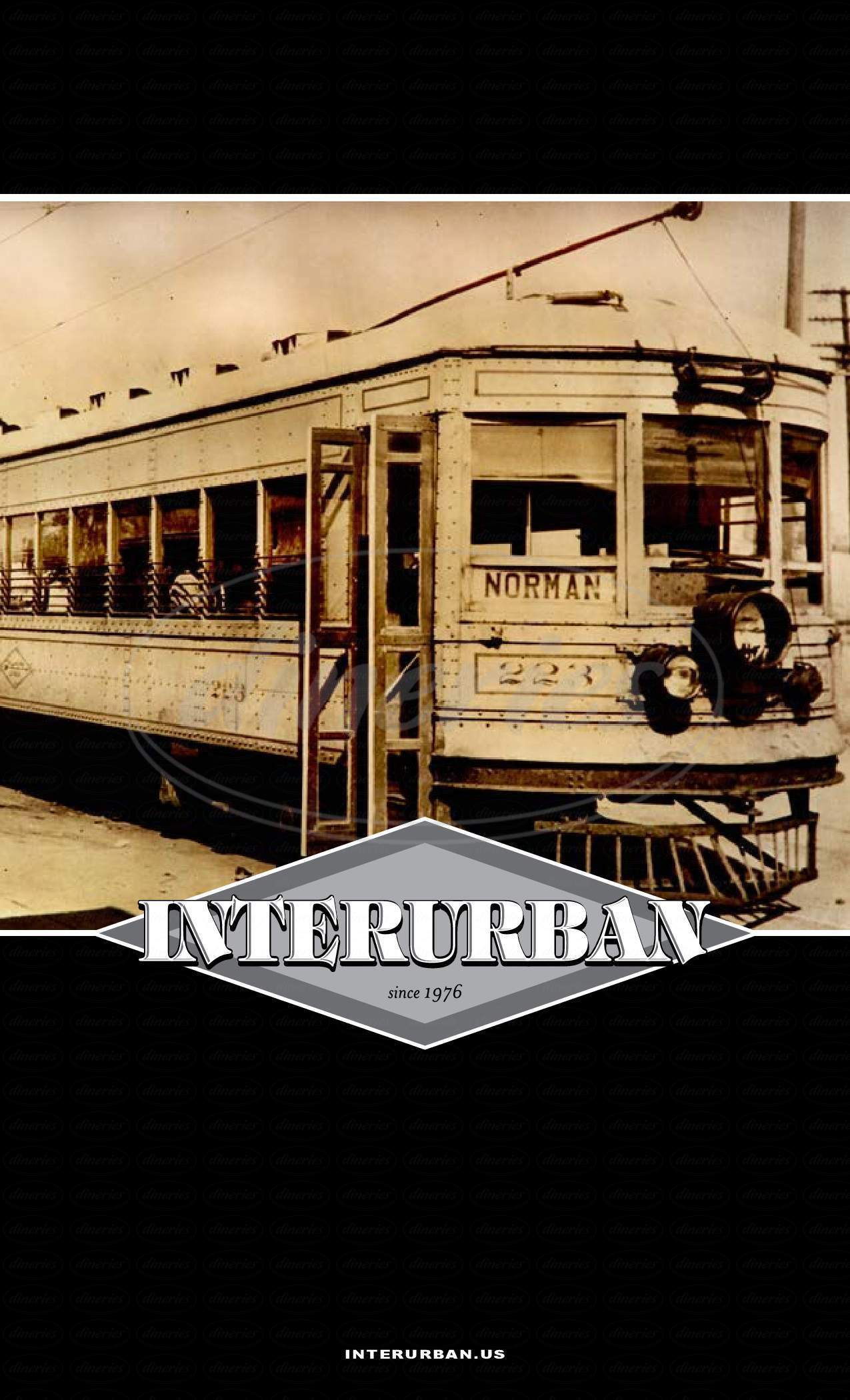 menu for Interurban