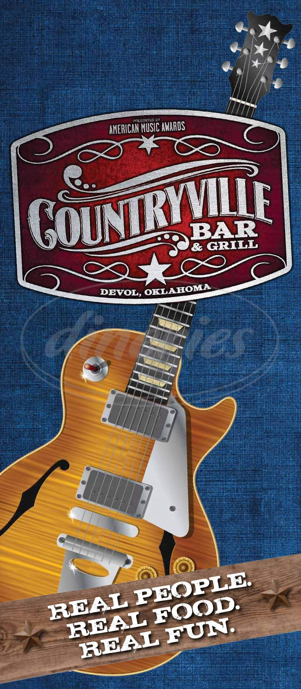 menu for Countryville Bar & Grill