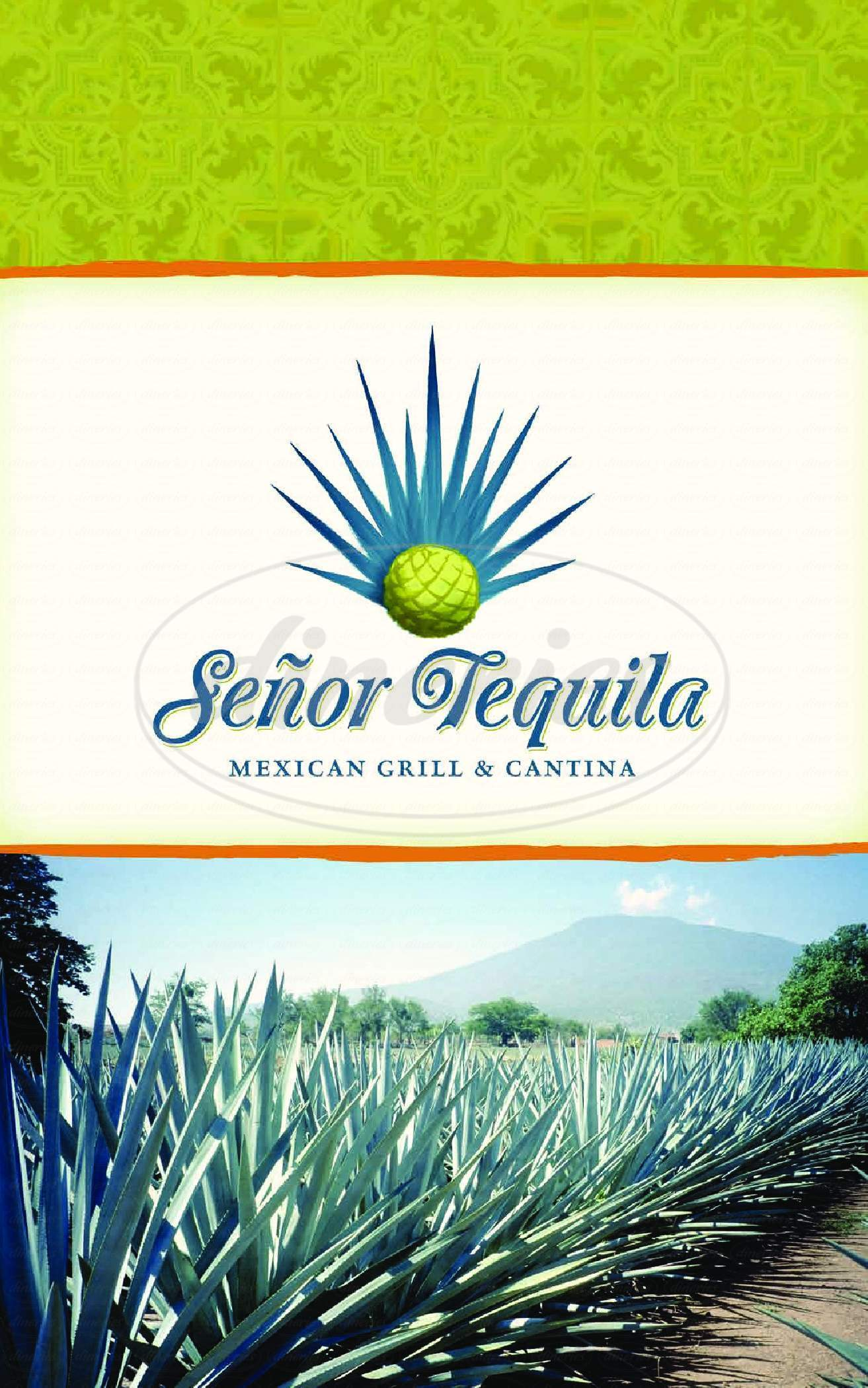 menu for Senor Tequila