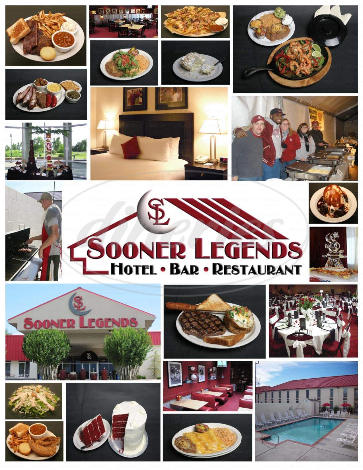 menu for Sooner Legends Hotel-Restaurant-Bar