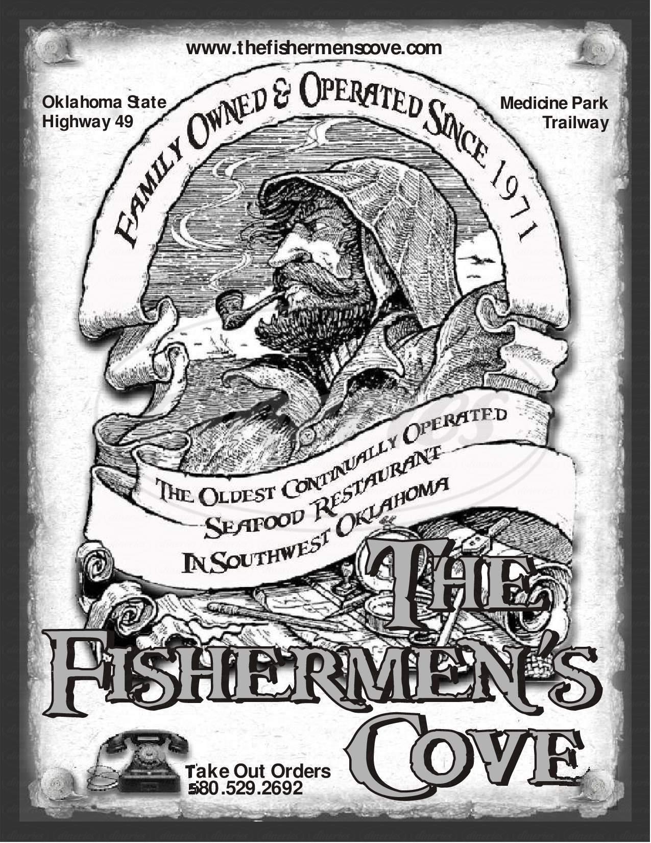 menu for Fishermen's Cove