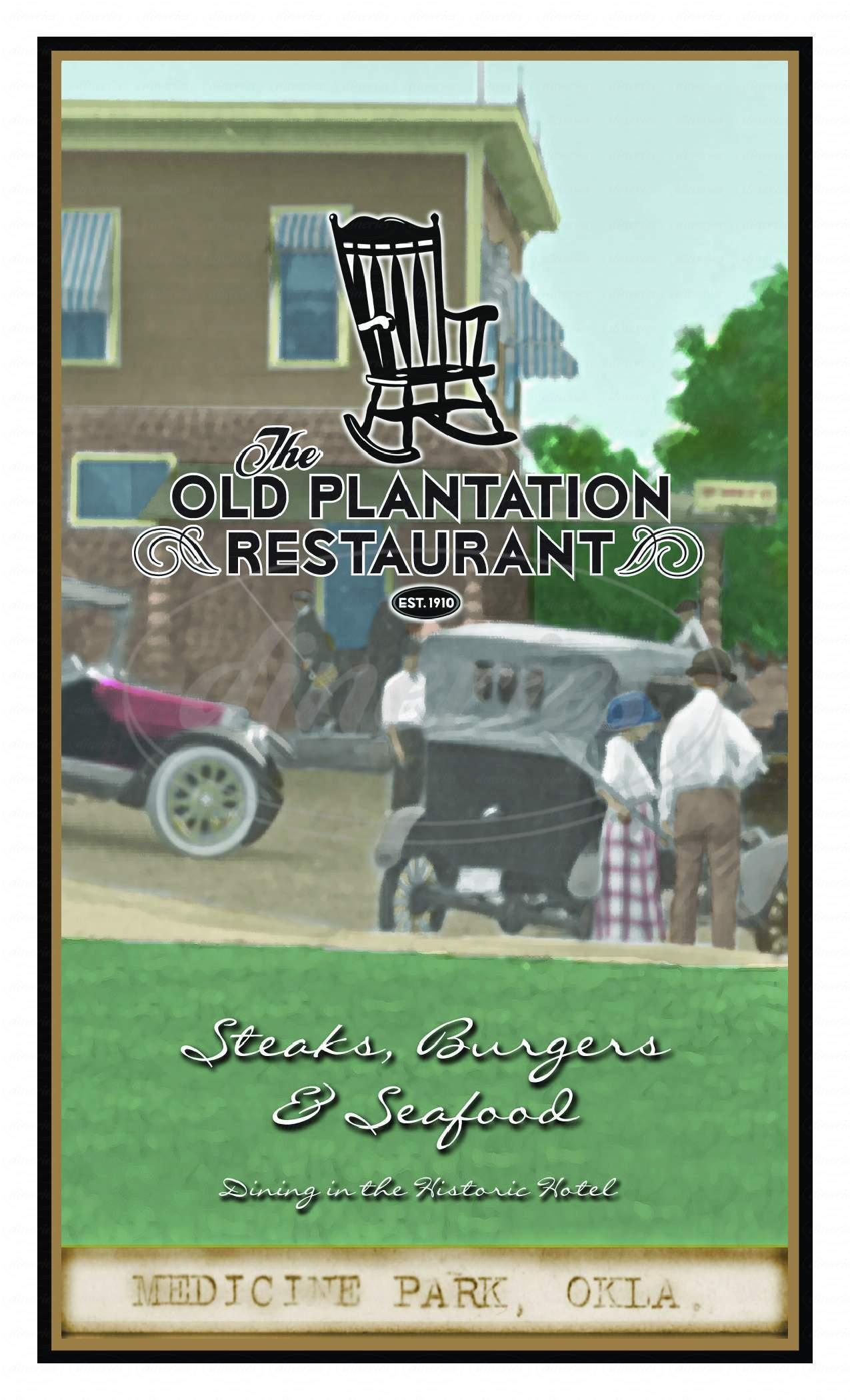 menu for The Old Plantation Restaurant