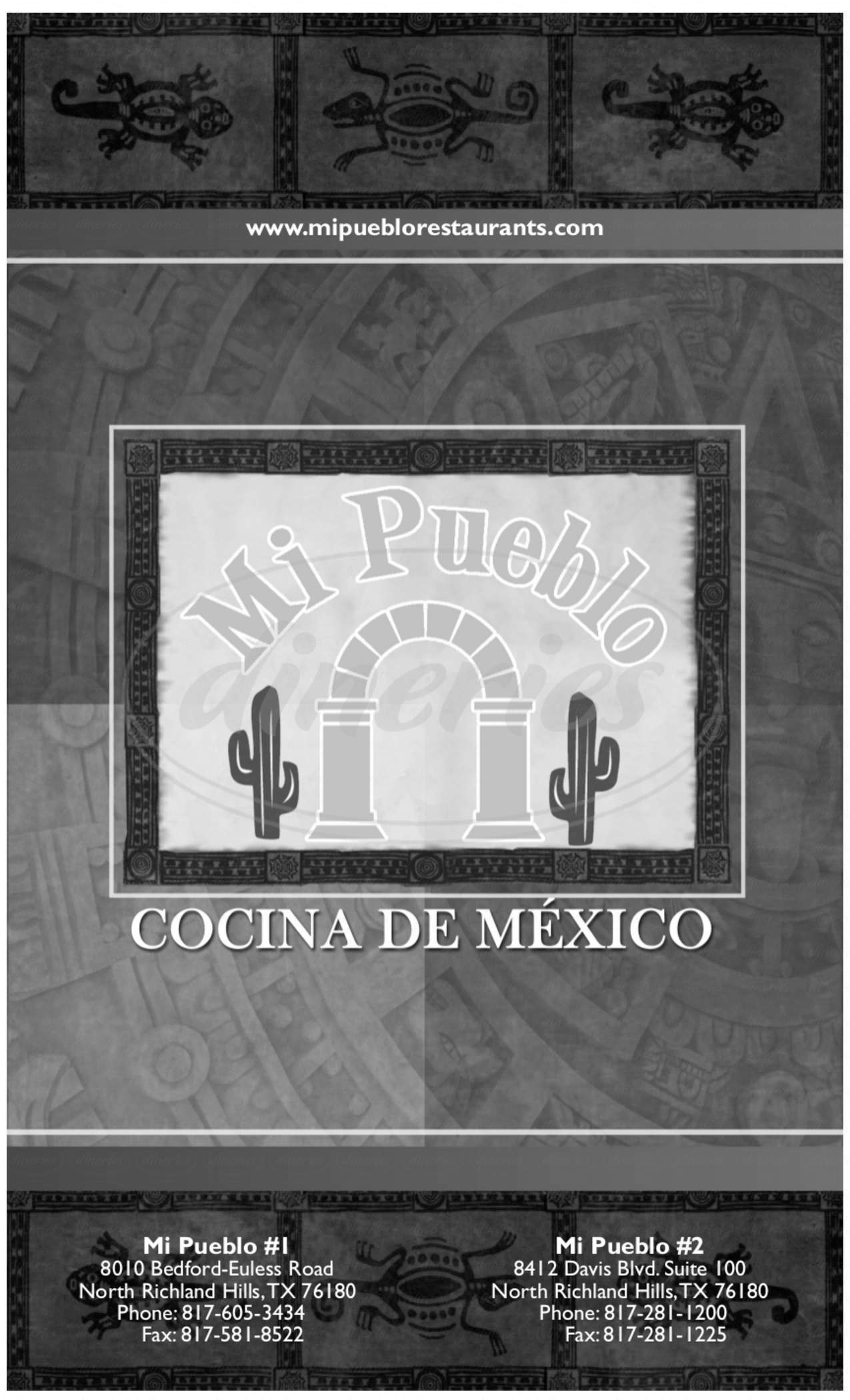 menu for Mi Pueblo No 2