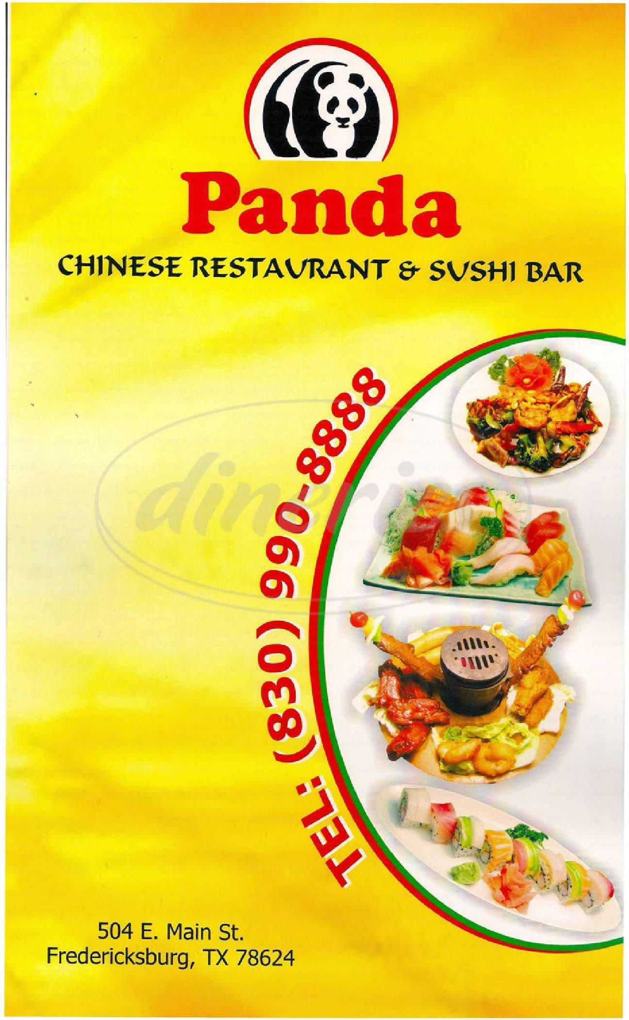menu for Panda