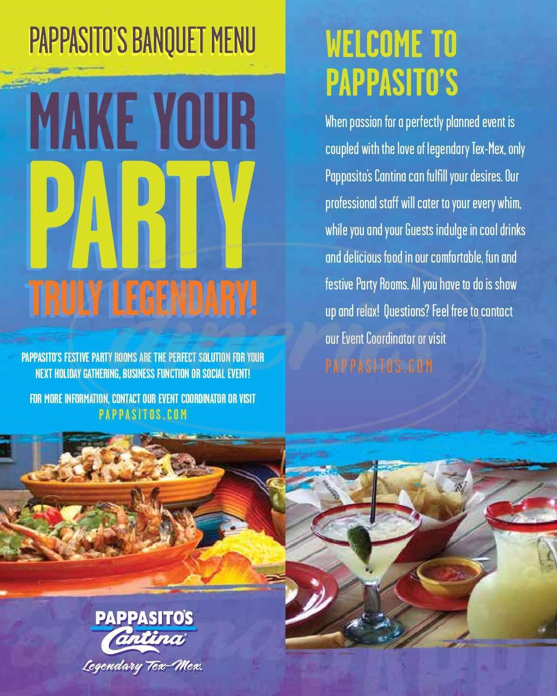 Pappasito\'s Cantina Menu - Houston - Dineries