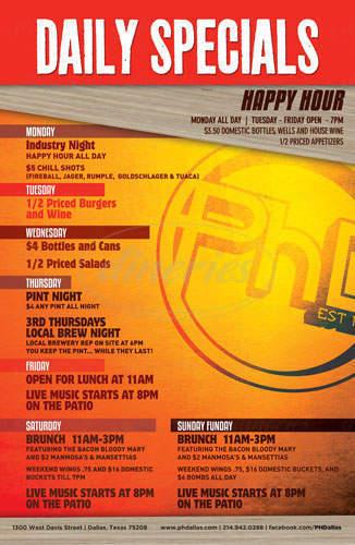 menu for PhD