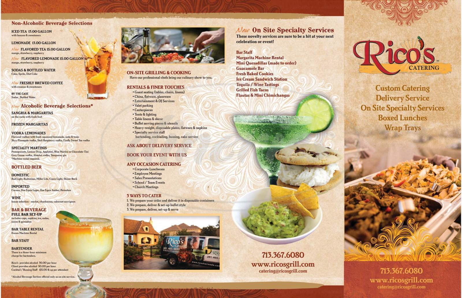 menu for Rico's Grill - Indian Springs